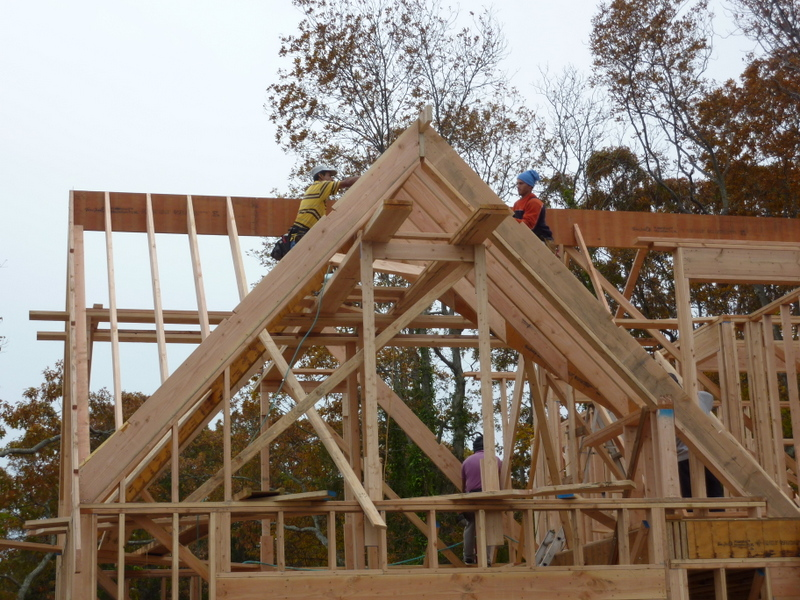 Framing Roof 104 Cliff Road East
